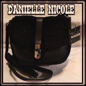 DANIELLE NICOLE Shearling Crossbody/Saddle Bag